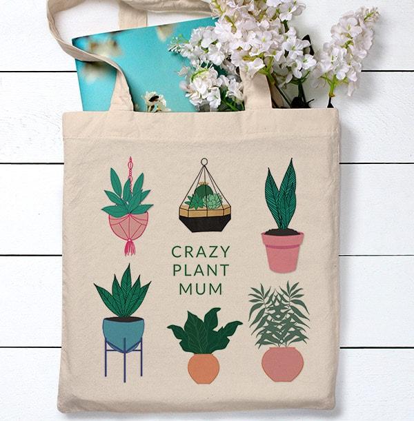 Crazy Plant Mum Tote Bag