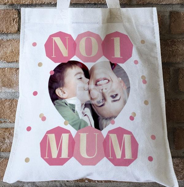 No.1 Mum Photo Tote Bag