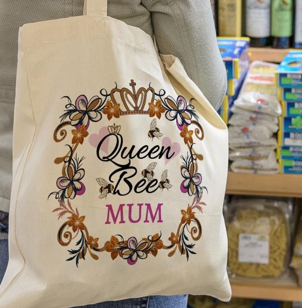 Mum is Queen Bee Tote Bag