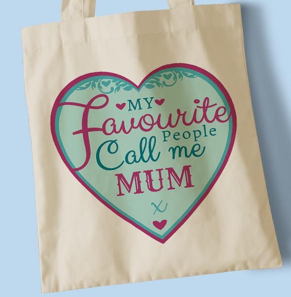 Favourite People Call Me Mum Tote Bag