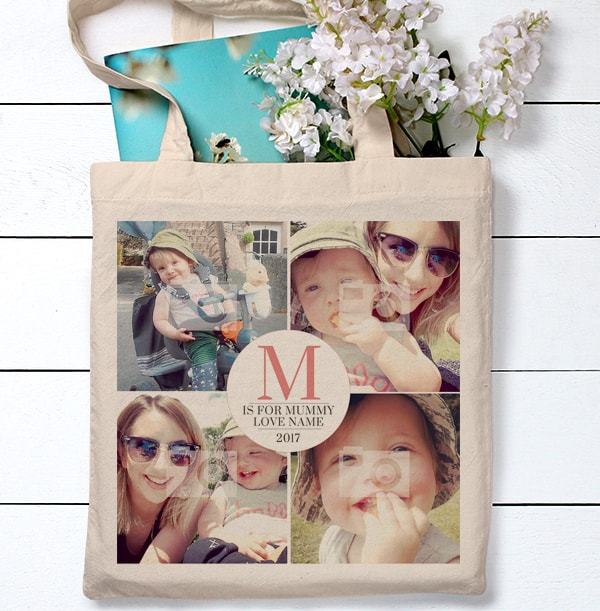 M is for Mummy Multi Photo Tote Bag