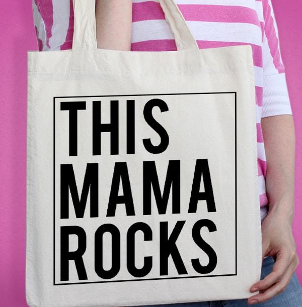 This Mama Rocks Personalised Tote Bag