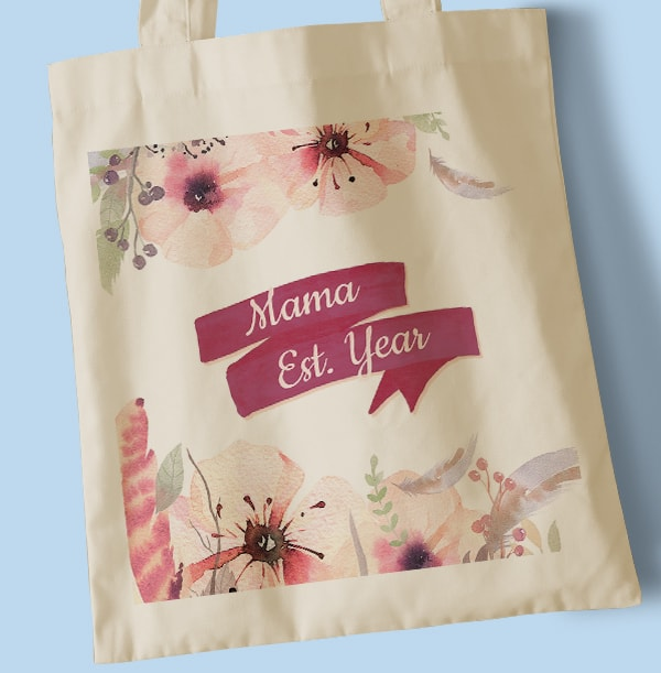 Mama Est. Personalised Tote Bag