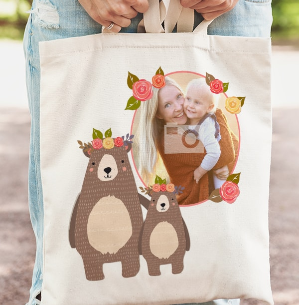 Little & Brave Daughter Photo Tote Bag