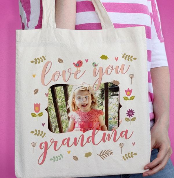 Love You Grandma Photo Tote Bag