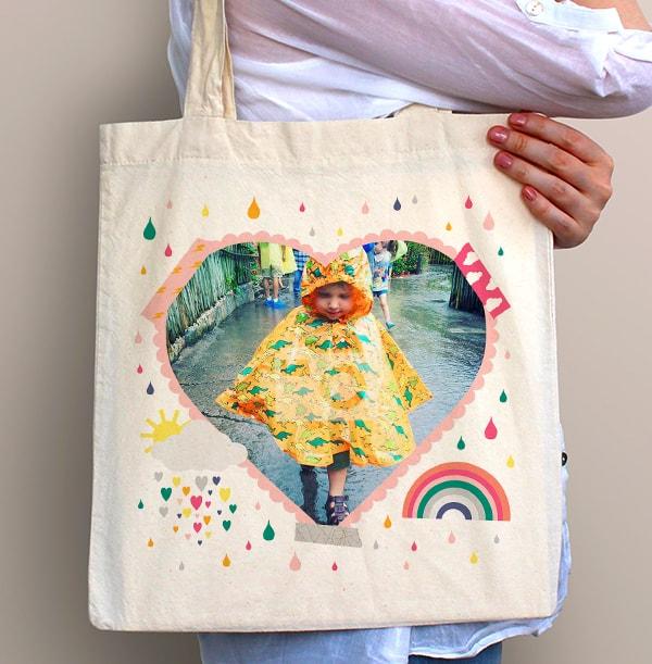 Sunshine Photo Heart Tote Bag