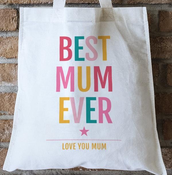 Best Mum Ever Personalised Tote Bag
