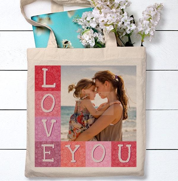 Love You Photo Tote Bag