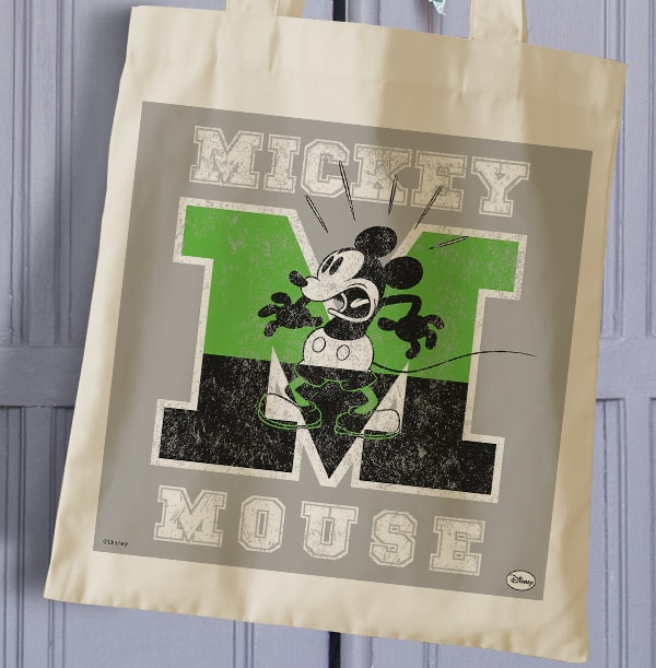 Mickey Mouse Tote Bag - Personalised M is for Mickey