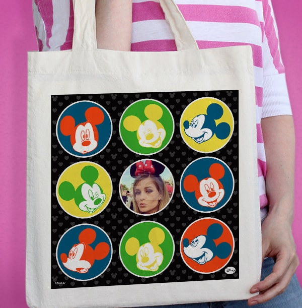 Faces of Mickey Mouse Photo Tote Bag