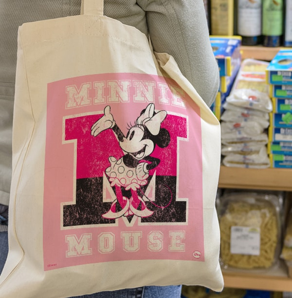 M is for Minnie Mouse Tote Bag