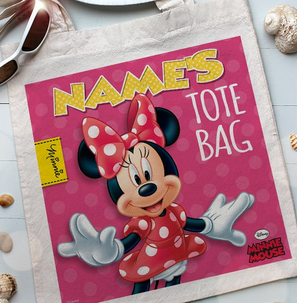 Polka Dot Dress Minnie Mouse Tote Bag