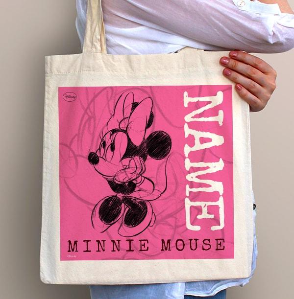 Vintage Sketch Minnie Mouse Tote Bag