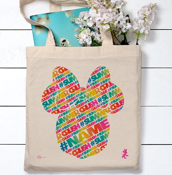 Minnie Mouse Tropical Personalised Tote Bag