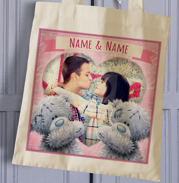 Photo Upload Heart Tote Bag - Me To You