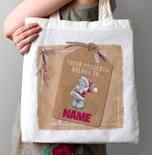Me To You Personalised Tote Bag - Christmas Label