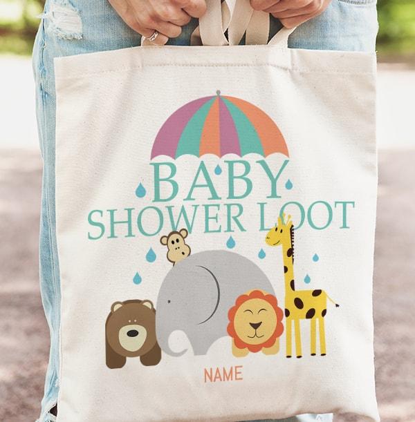 Baby Shower Loot Personalised Tote Bag