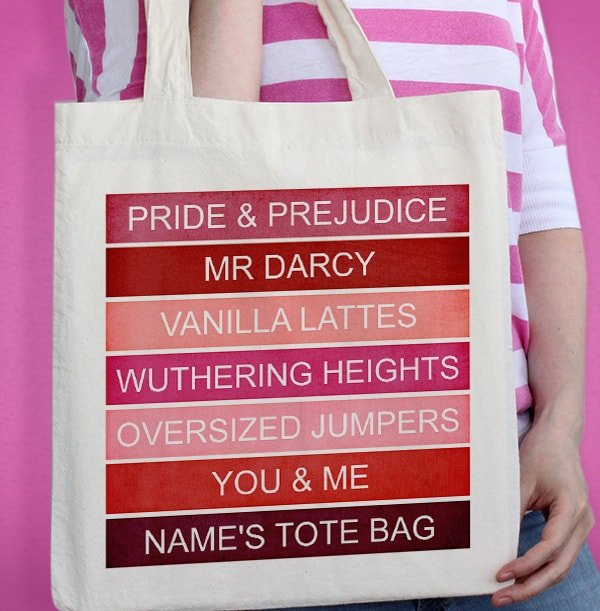 Personalised Pink Favourite Tote Bag