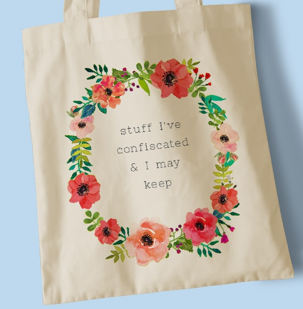 Confiscated May Keep Tote Bag