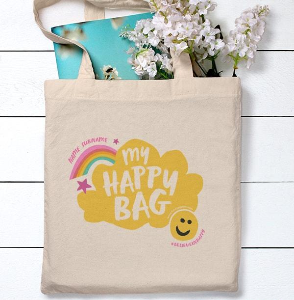 Believe in Happy Personalised Tote Bag