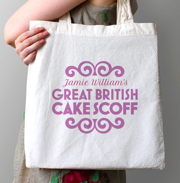 Great British Cake Scoff Personalised Tote Bag
