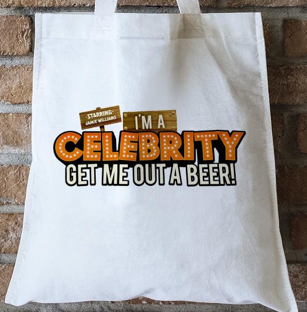Get Me Out A Beer! Personalised Tote Bag