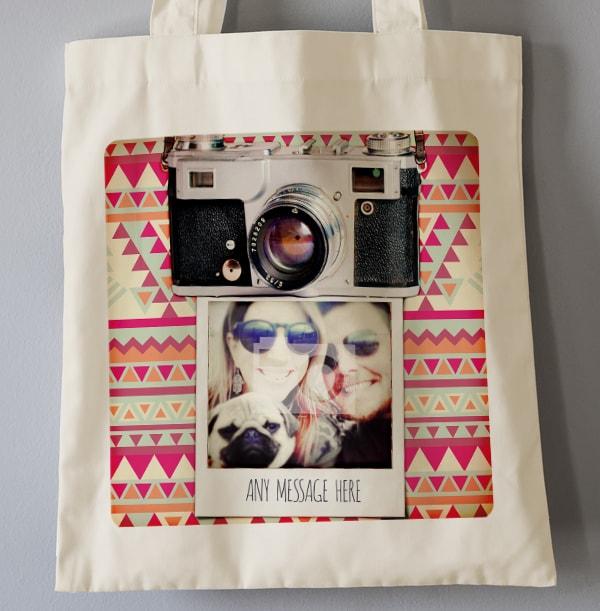 Retro Camera Personalised Tote Bag