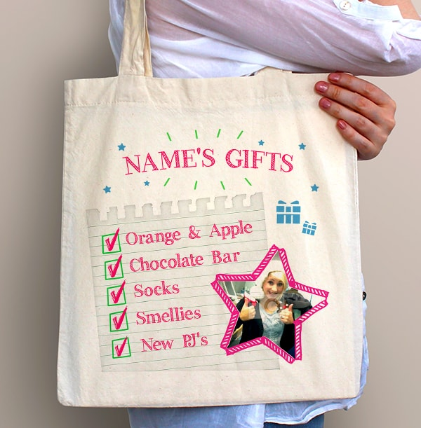 Christmas Gifts Personalised Tote Bag