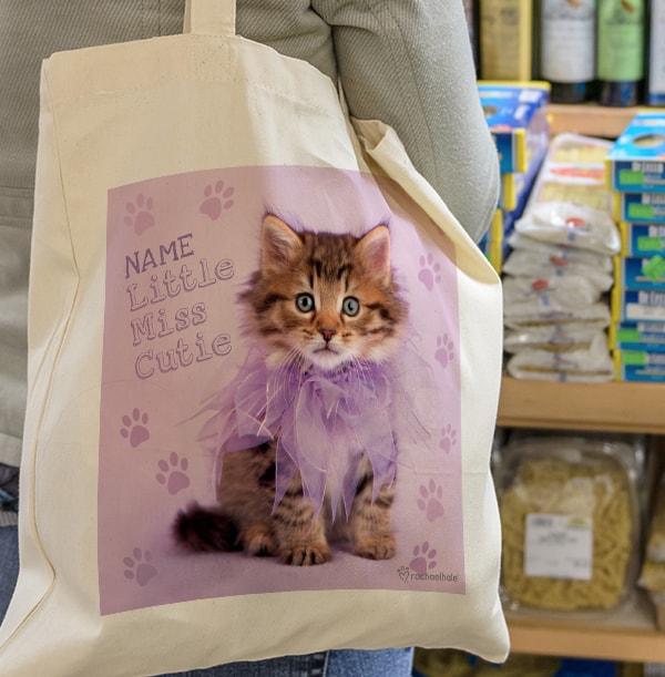 Kitten Little Miss Cutie Tote Bag - Rachael Hale