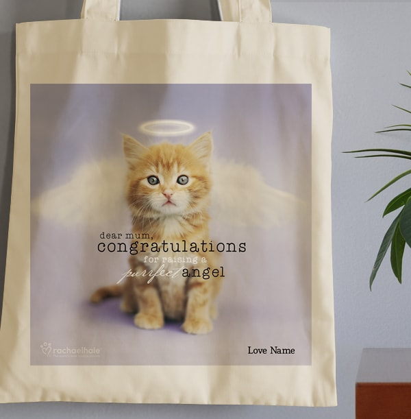 Purrfect Angel Tote Bag for Mum - Rachael Hale