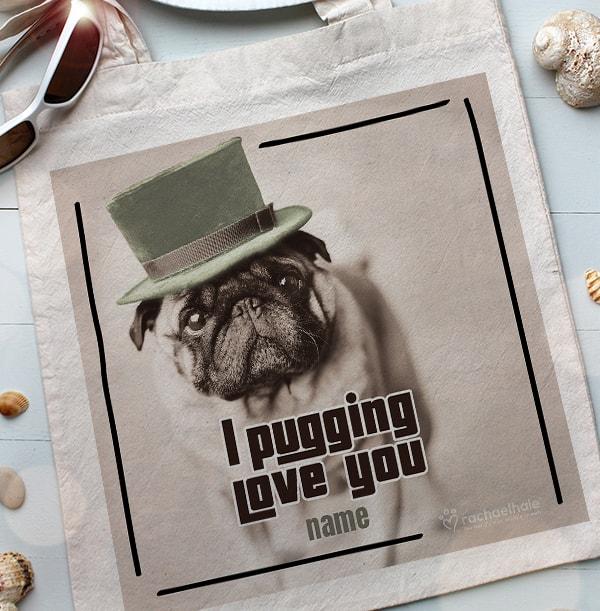 Pug Tote Bag - Rachael Hale