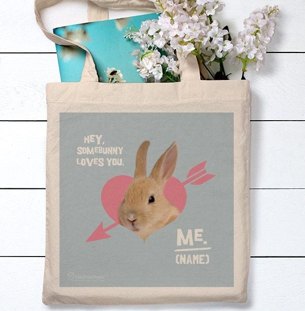 Somebunny Loves You Tote Bag - Rachael Hale