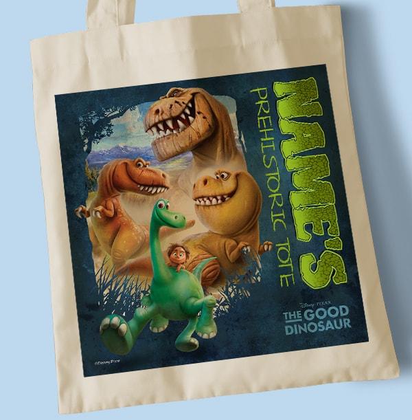 The Good Dinosaur Tote Bag - Personalised Prehistoric Tote