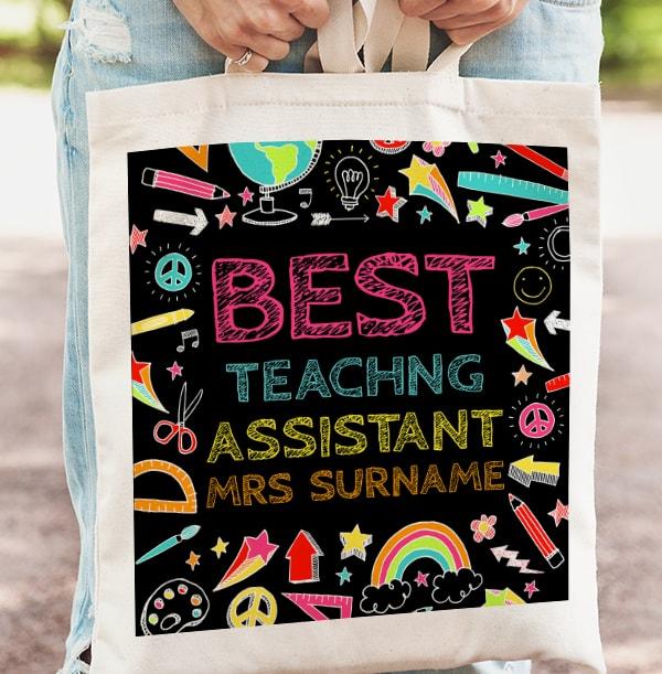 Best Teaching Assistant Personalised Tote Bag