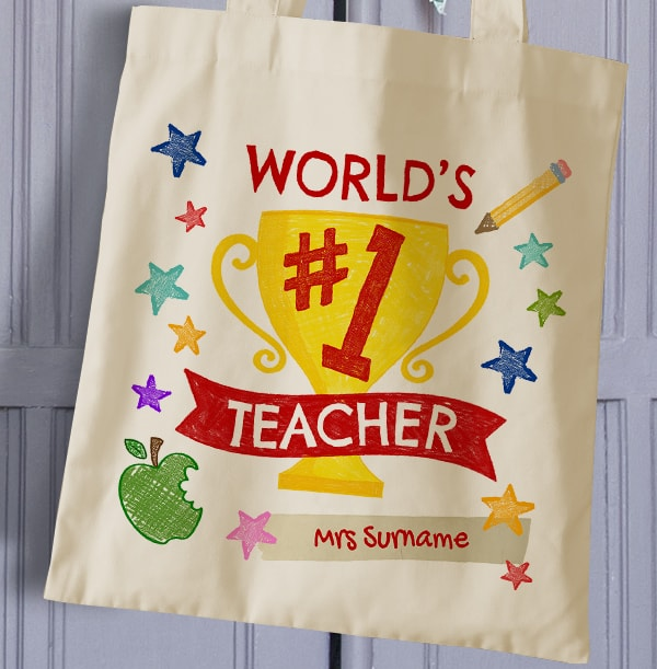 World's No.1 Teacher Personalised Tote Bag