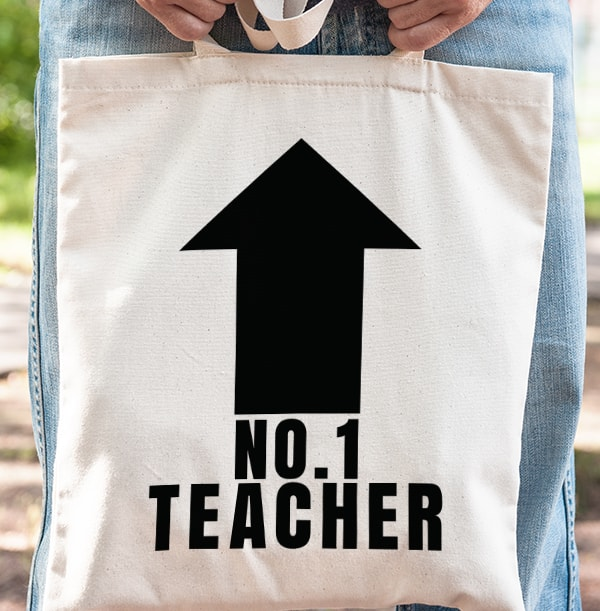 No.1 Teacher Personalised Tote Bag