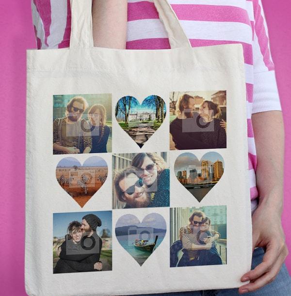 Multi Photo Upload Personalised Tote Bag