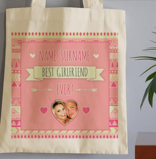 Best Girlfriend Personalised Tote Bag
