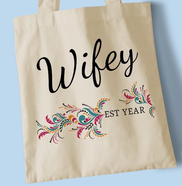 Wifey Personalised Tote Bag