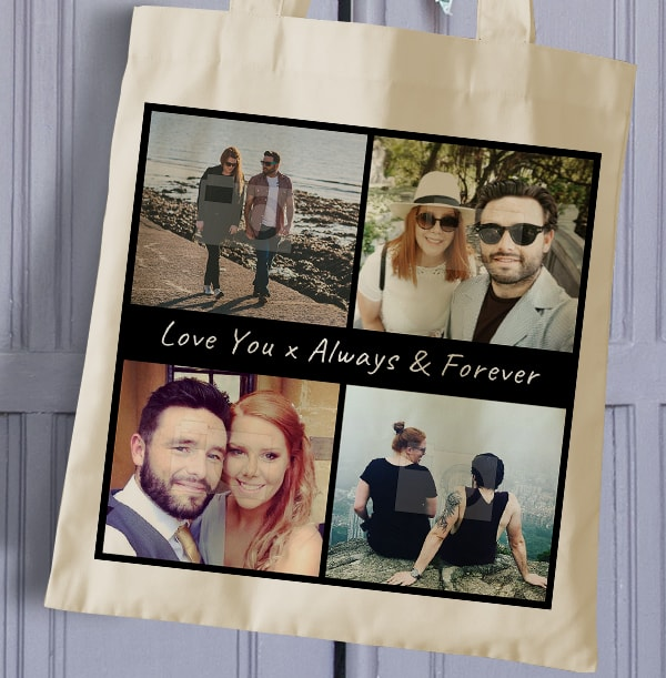 Always & Forever Multi Photo Tote Bag