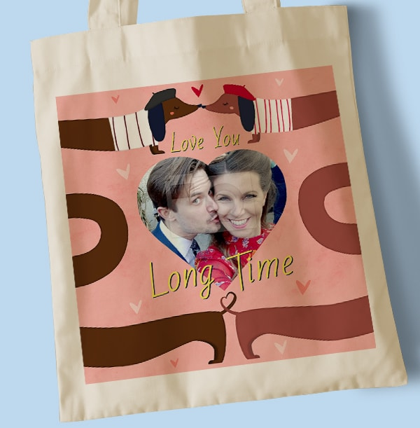 Love You Long Time Photo Tote Bag