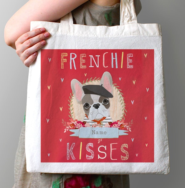 Frenchie Kisses Personalised Tote Bag