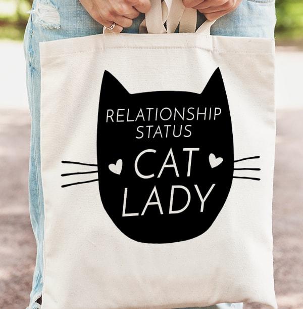 Cat Lady Personalised Tote Bag