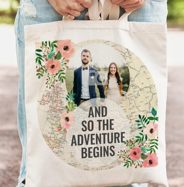 The Adventure Begins Photo Tote Bag