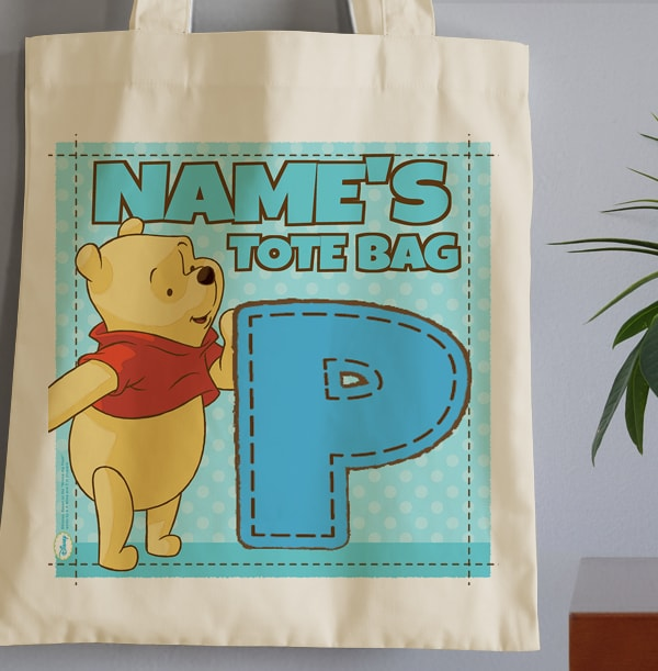 P is for Pooh Bear Tote Bag - Winnie the Pooh