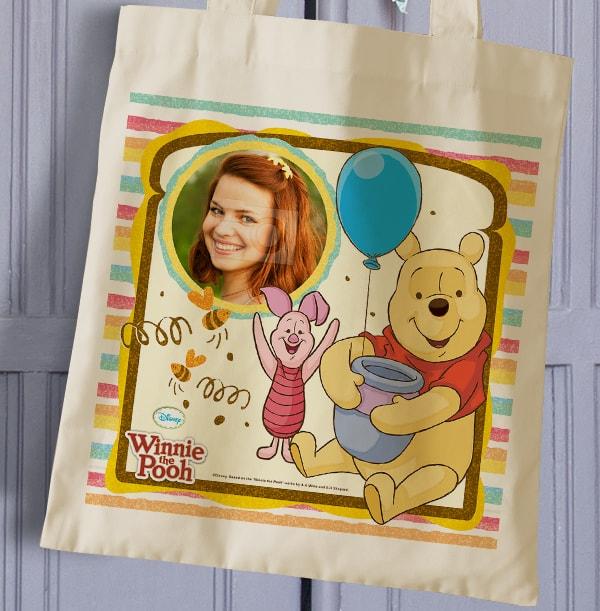 Winnie the Pooh & Piglet Personalised Tote Bag
