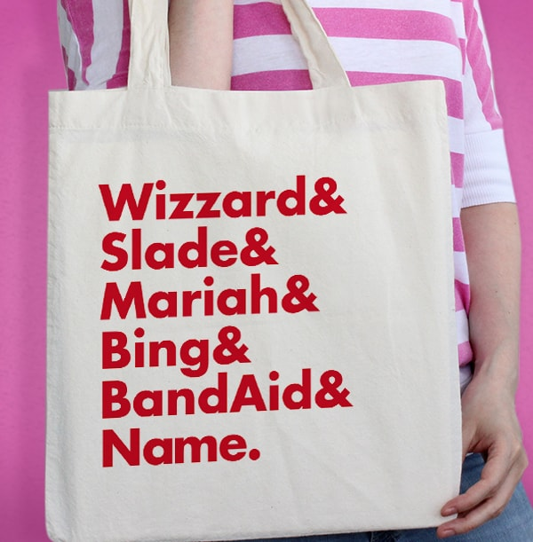 Big Christmas Bands Personalised Tote Bag