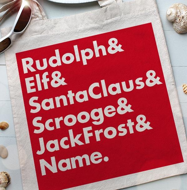 Christmas Characters Personalised Tote Bag
