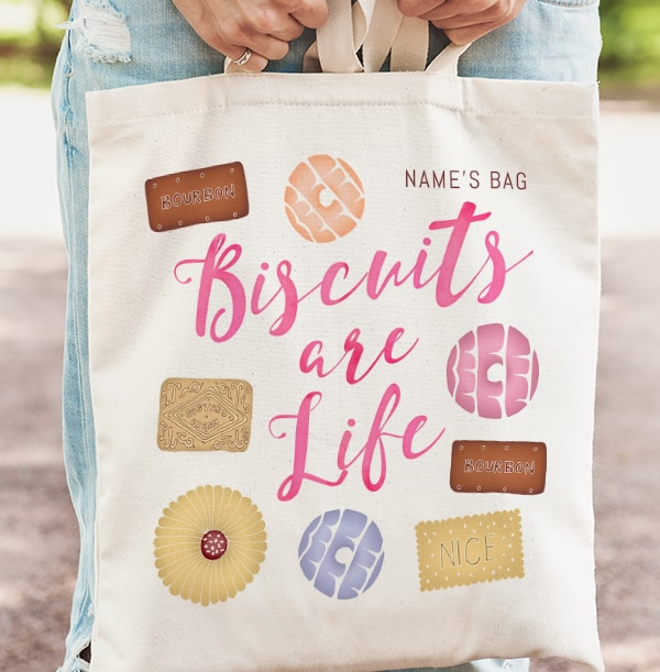 Biscuits are Life Personalised Tote Bag