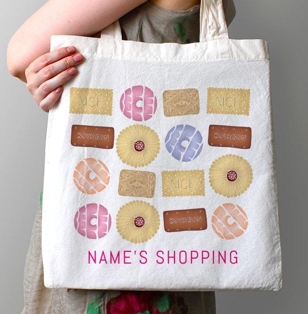 Biscuit Lover Personalised Tote Bag